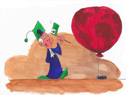 Doktoro Espo with balloon